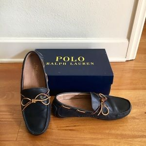 Navy Ralph Lauren Leather Loafers
